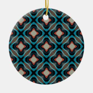 Motif géométrique vintage ornement rond en céramique