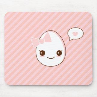 motif girly de rayures de rose d'oeufs d'epicute tapis de souris