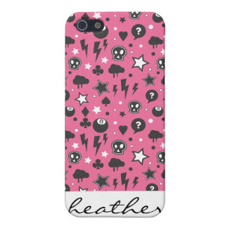 Motif Girly rose de punk rock Coques iPhone 5