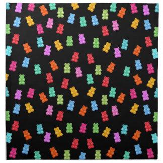 Motif gommeux d'ours serviettes en tissus