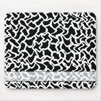 motif blanc noir tapis pour souris. Black Bedroom Furniture Sets. Home Design Ideas