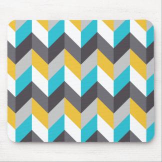 tapis de souris motif g om trique jaune. Black Bedroom Furniture Sets. Home Design Ideas