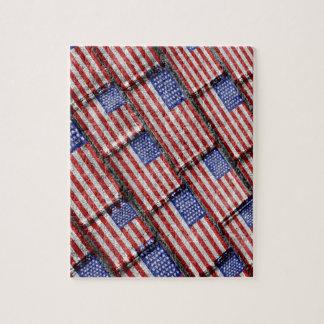 Motif grunge de drapeau des Etats-Unis Puzzle