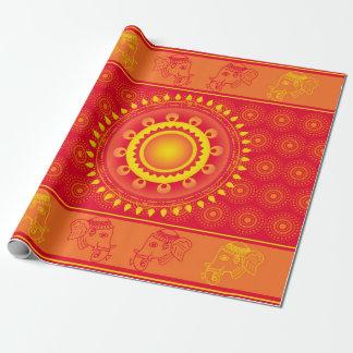 Motif indien papier cadeau