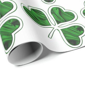 Motif irlandais de shamrock papiers cadeaux