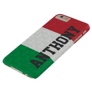 Motif italien personnalisé de damassé de drapeau coque barely there iPhone 6 plus