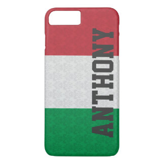 Motif italien personnalisé de damassé de drapeau coque iPhone 7 plus