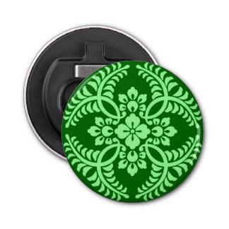 Motif japonais de médaillon, vert de jade foncé décapsuleur