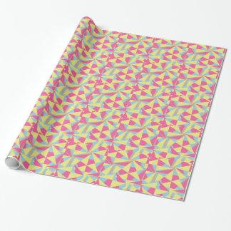 Motif jaune bleu rose géométrique génial papier cadeau
