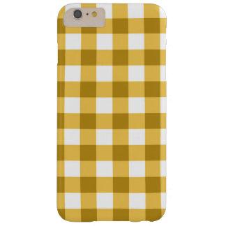 Motif jaune et blanc de contrôle de guingan coque barely there iPhone 6 plus