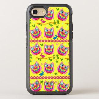 Motif jaune mignon de hiboux coque otterbox symmetry pour iPhone 7