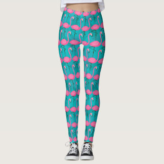 Motif lumineux 2 de flamant leggings