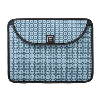 Motif marocain bleu de symétrie poche pour macbook pro