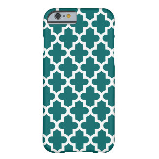 Motif marocain moderne turquoise foncé coque iPhone 6 barely there