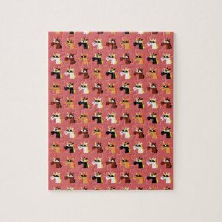 Motif masqué de licornes puzzle