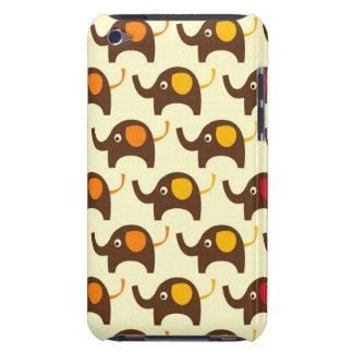 Motif mignon de nature de kawaii d'éléphants de bo coques barely there iPod