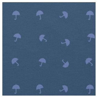 Motif mignon de parapluies de bleu marine tissu
