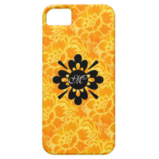 Motif mignon Girly de damassé de monogramme floral iPhone 5 Case