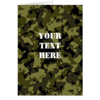 Motif militaire de style de camouflage carte