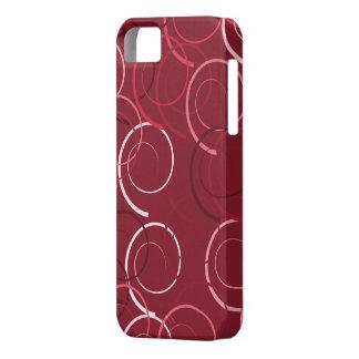 Motif moderne d'anneau de magenta et de Brown Coque iPhone 5 Case-Mate