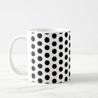 Motif moderne de pois de base mug