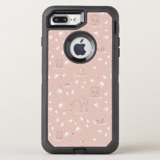 motif montrant les animaux mignons de jungle de coque otterbox defender pour iPhone 7 plus