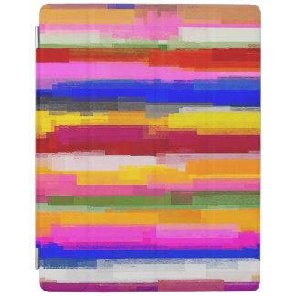 Motif multicolore abstrait #11 d'aquarelle protection iPad