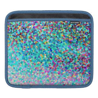 Motif multicolore bleu coloré d'art abstrait poche iPad