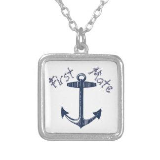 Motif nautique d'ancre de marine collier