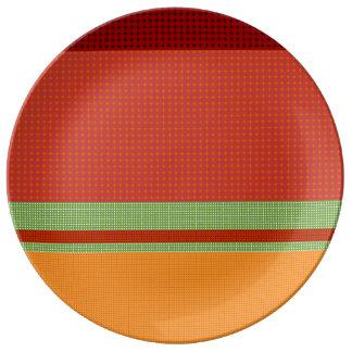 Motif NO.3 de chute : Plat décoratif de porcelaine Assiette En Porcelaine