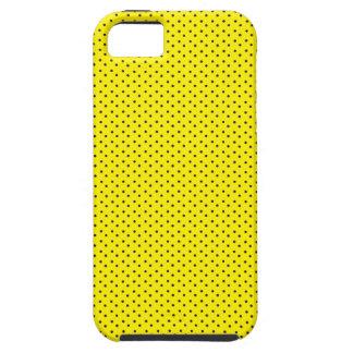 Motif noir de polka étuis iPhone 5