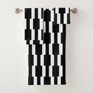 Motif noir et blanc contemporain de rectangle