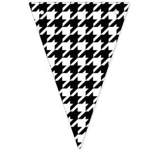 Motif noir et blanc de pied-de-poule bannière à fanions