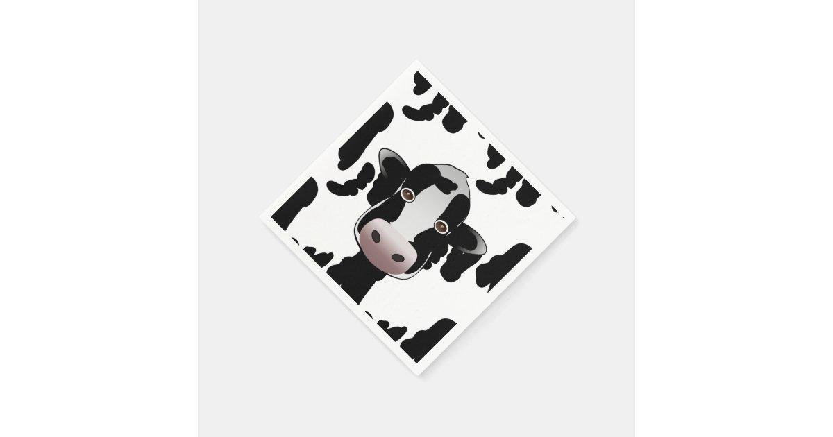 Motif noir et blanc de vache serviette en papier zazzle - Serviette en papier motif ...