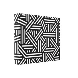 Motif noir et blanc géométrique abstrait toiles