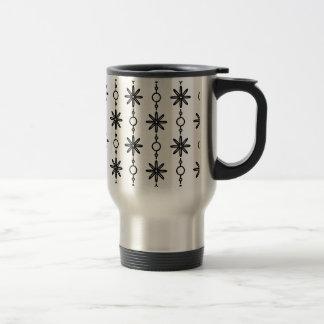 Motif noir et blanc PT63 de smoking Mug De Voyage