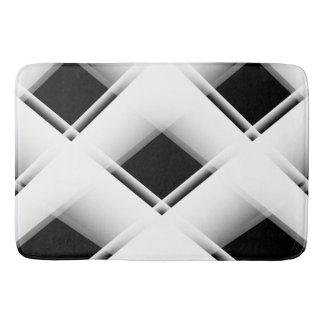 Motif noir et blanc tapis de bain