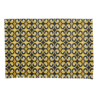 Motif noir jaune royal élégant housse d'oreillers