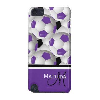 Motif noir pourpre de ballon de football de coque iPod touch 5G