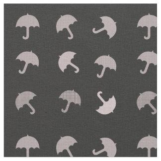 Motif noir rose mignon de parapluies tissu