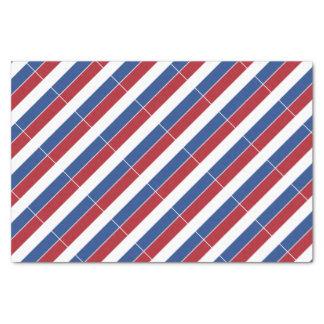 Motif patriotique néerlandais de la Hollande Papier Mousseline