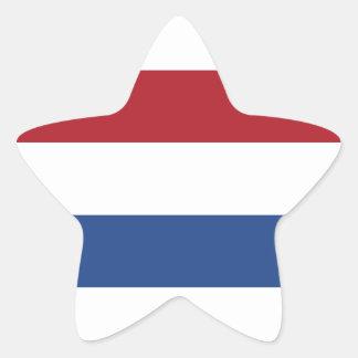 Motif patriotique néerlandais de la Hollande Sticker Étoile