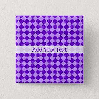 Motif pourpre de diamant de combinaison par badge carré 5 cm