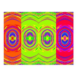 Motif psychédélique abstrait : carte postale