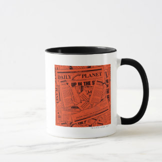 Motif quotidien de planète - rouge mug
