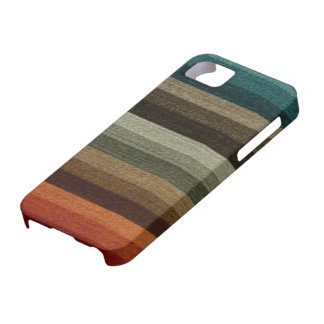 Motif rayé d'automne chaud vintage, tons de la coque Case-Mate iPhone 5