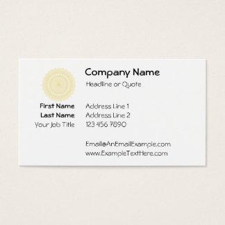 Motif rond dans la couleur crème carte de visite standard