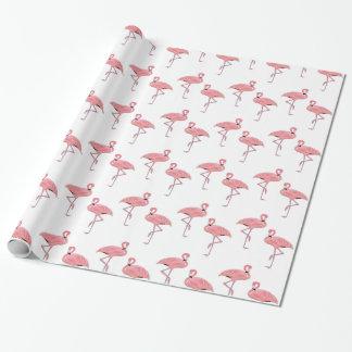 Motif rose classique de flamant papier cadeau