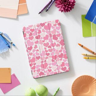 Motif rose de coeurs - couverture d'iPad Protection iPad Air
