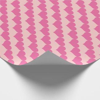 Motif rose de coeurs de Valentine Papier Cadeau